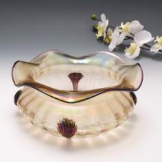 A Rare  Large Four Claw Kralik Iridescent Bowl c1930