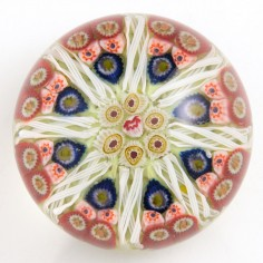 A Strathearn Radial Paperweight c1970