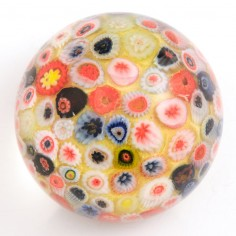 A Strathearn Millefiori Close Pack  Paperweight c1970