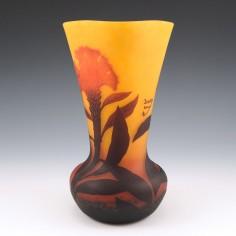 A Daum Vase With Bearded Irises c1910