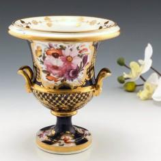 A Coalport Porcelain Campana Vase 1815-20