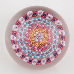 A Baccarat Dupont Concentric Paperweight c1920