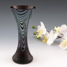 An Amethyst Okra Glas Studio Vase c1990