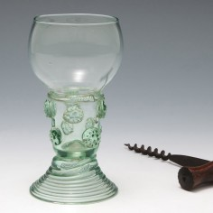 Very Rare English Lead Glass Roemer With Spun Foot c1800