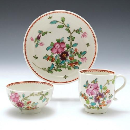 A Lowestoft Porcelain Trio 1770-75