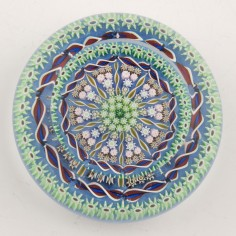 A Perthshire PP58 Millefiori Paperweight c1988