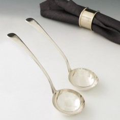 A Pair of George III Sterling Silver Sauce Ladles London 1801