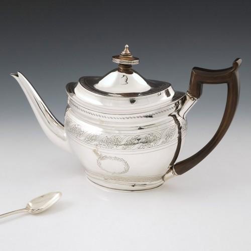 Georgian Sterling Silver Teapot London 1804