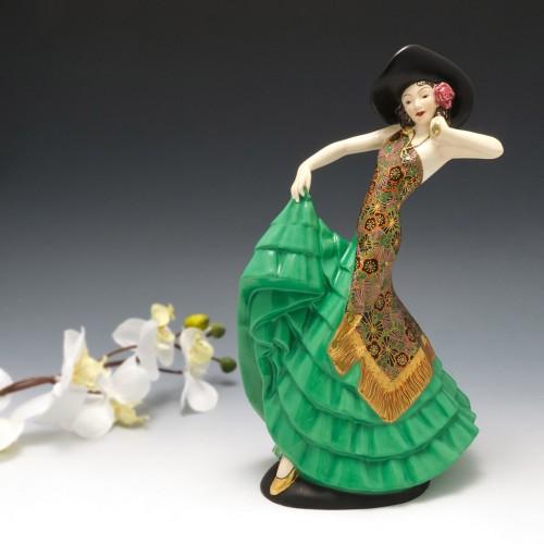 A Fieldings Crown Devon Art Deco Figure of Rio Rita c1934