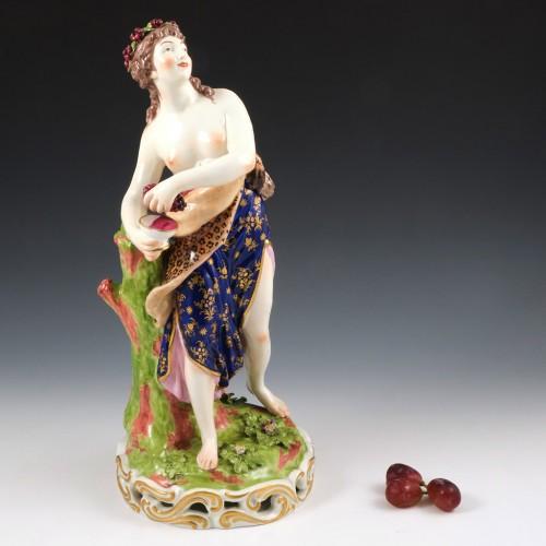 A Derby Porcelain Figure of a Bacchant  c1815
