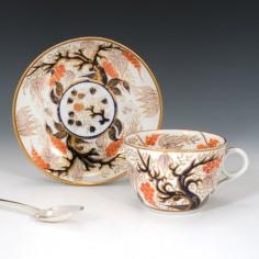 New Hall Imari Vine Teacup and Saucer Pattern 446 c1815