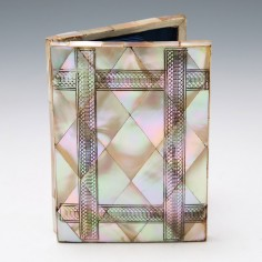 Mother of Pearl and Abalone Concertina Card Case c1880