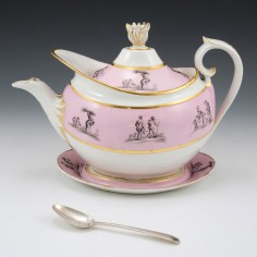 Barr Flight Barr Worcester Teapot and Stand c1810