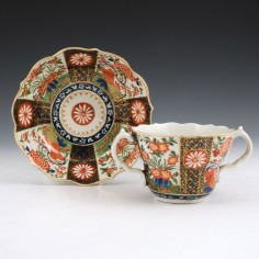 A Worcester Porcelain Chocolate cup and Saucer c1770