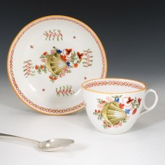 New Hall Pattern 1045 Teacup and Saucer  c1815
