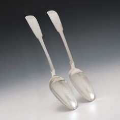 Pair Scottish Provincial Serving Spoons Perth 1827-1836