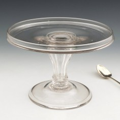 18th Century Glass Tazza  c1780