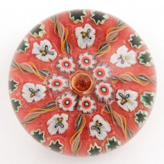 A Large Vasart Radial Complex Cane Paperweight c1950