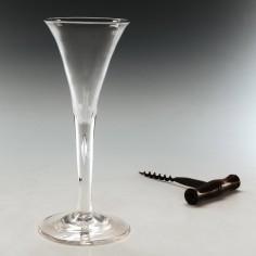 Georgian Plain Stem Wine Glass c1770