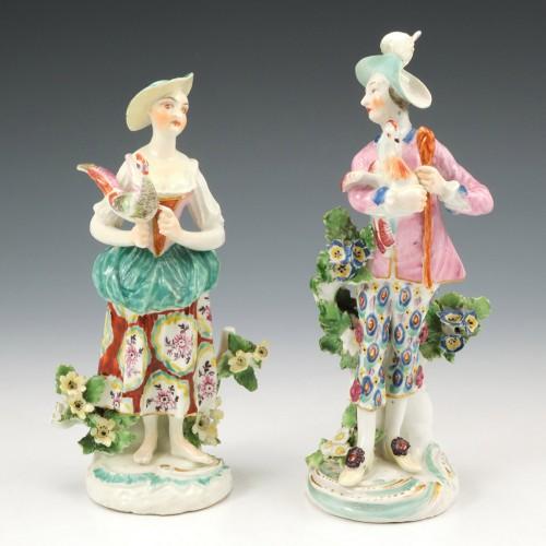 A Pair of Derby Porcelain Figures c1770