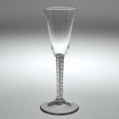 A Double Series Mercury Air Twist Ale Glass c1750
