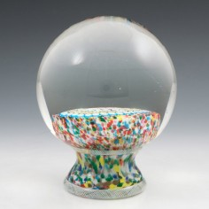 A Magnum Murano Pedestal or Piedouche Paperweight 1848 Date Cane