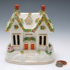 A Staffordshire Porcelain Night Light c1840