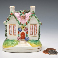 A Staffordshire Pottery Moneybox c1850