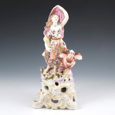 A Large Bow Porcelain Figure of Juno c1756