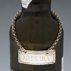 Sterling Silver Madeira Decanter Label By Hester Bateman