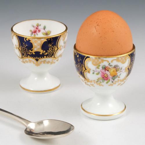 Pair Coalport Porcelain Egg Cups c1895