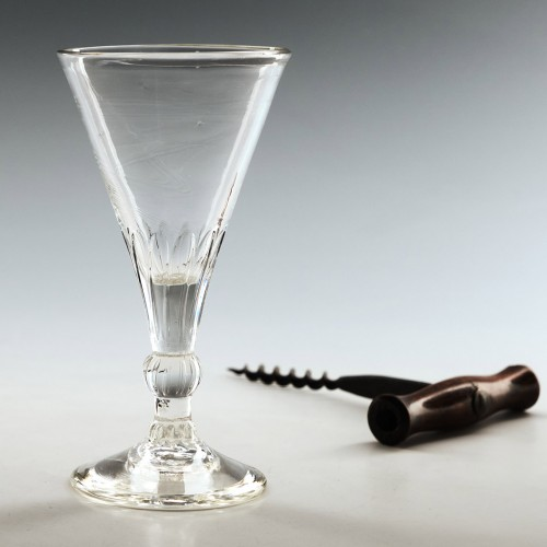 Georgian Petal Moulded Gin Glass c1760