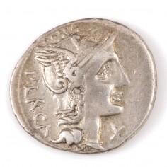 Roman P. Porcius Laeca, Silver Denarius c.110BC