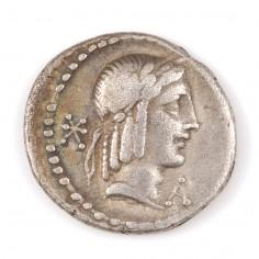 Roman, L. Calpurnius Piso Frugi, Silver Denarius c.90BC