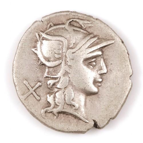 Roman, L. Autronius, Silver Denarius 180 BC
