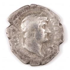 Emperor Hadrian Silver Denarius, Annona Seated Reverse 126-127AD