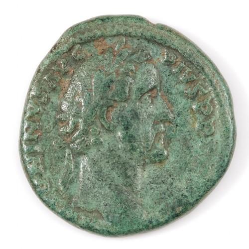 Emperor Antoninus Pius Copper As, 139AD