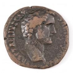 Emperor Antoninus Pius Copper As, 138AD