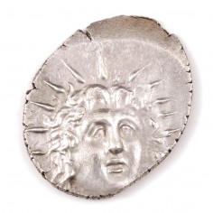 Ancient Greek, Caria, Rhodos, Silver Drachm, 88BC-14AD