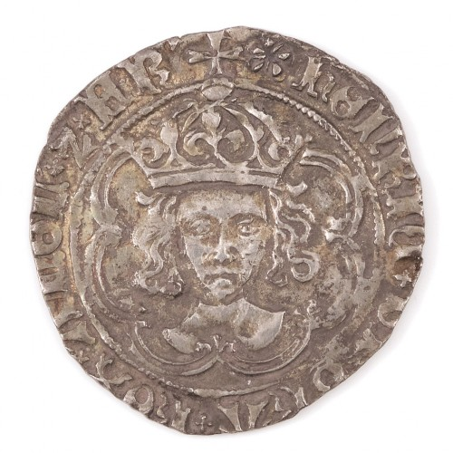 Henry VII, Silver Groat, Initial Mark Pansy, 1495-98