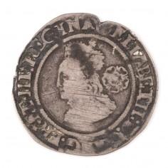 Elizabeth I, Silver Sixpence, Rose Mint Mark, 1565