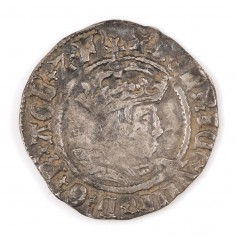 Henry VIII, Silver Halfgroat, T Mint Mark, 1526-1532