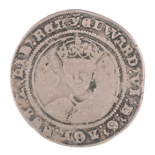 Edward VI, Silver Shilling, Y Initial Mark, 1551