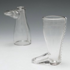 A Boot Shaped Coaching Glass c1800