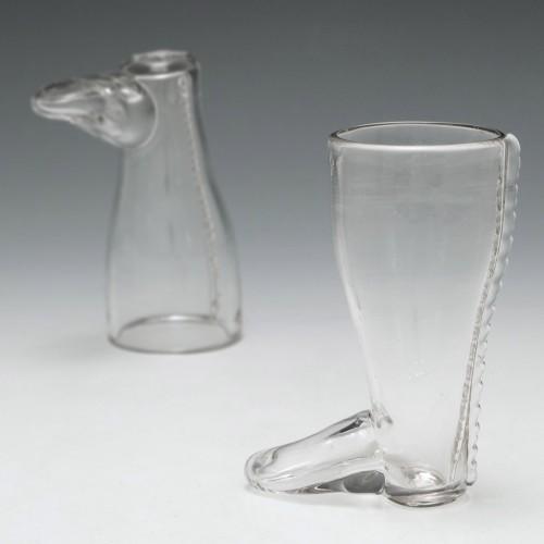 A Boot Shaped Coaching Glass c1800