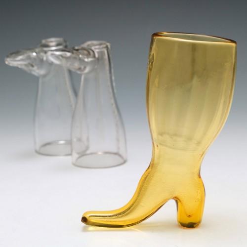 Amber Coaching Glass c1820