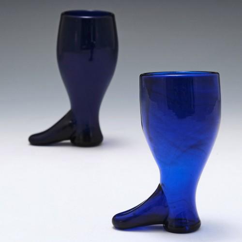 Bristol Blue Coaching Glass c1800