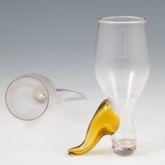A 19th Century Novelty Glass Boot