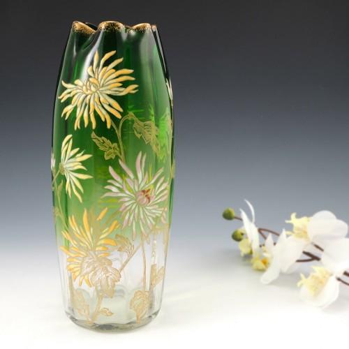 Legras Mont Joye Enamelled Vase c1900