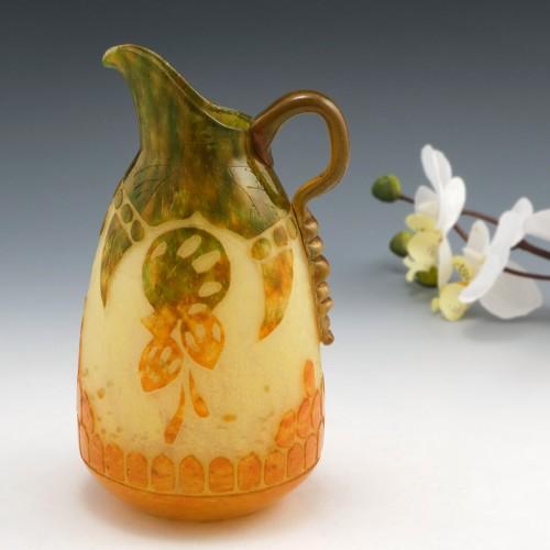 Schneider Art Glass Pitcher c1920